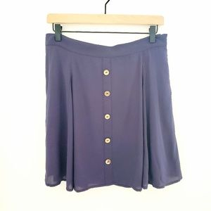 Modcloth Blue A-line Skirt with Buttons NWOT